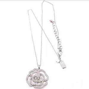 Kate Spade NWOT Silver Rose Garden Pave Necklace